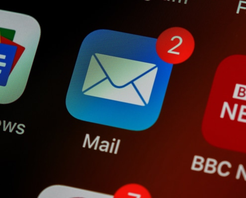 Icone mail avec notifications