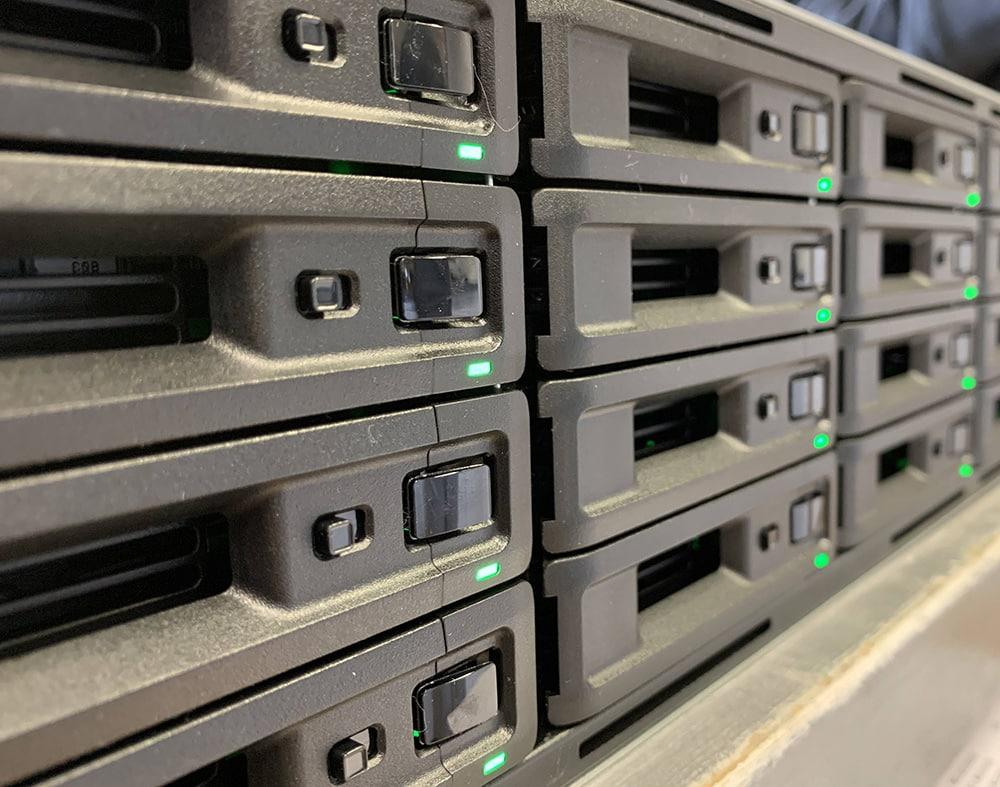disque dur d'un serveur réseau